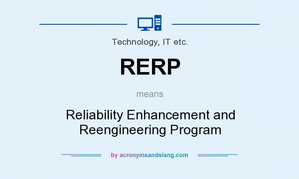 What does RERP mean? It stands for Reliability Enhancement and Reengineering Program