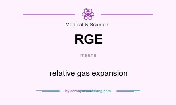 What does RGE mean? It stands for relative gas expansion