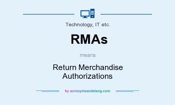 What does RMAs mean? It stands for Return Merchandise Authorizations