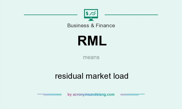 What does RML mean? It stands for residual market load