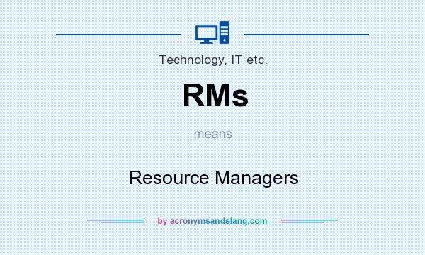 What does RMs mean? It stands for Resource Managers