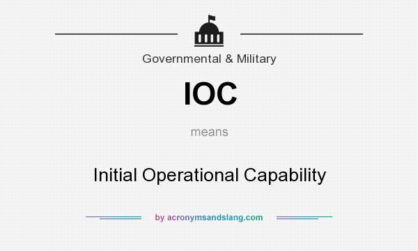 What does IOC mean? It stands for Initial Operational Capability