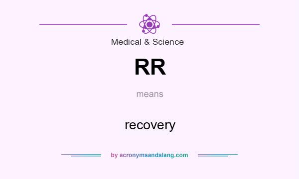 What does RR mean? It stands for recovery