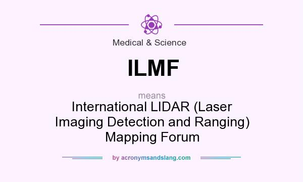 What does ILMF mean? It stands for International LIDAR (Laser Imaging Detection and Ranging) Mapping Forum