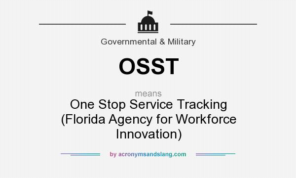 What does OSST mean? It stands for One Stop Service Tracking (Florida Agency for Workforce Innovation)