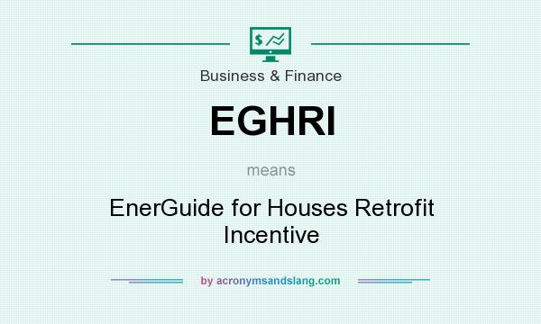What does EGHRI mean? It stands for EnerGuide for Houses Retrofit Incentive