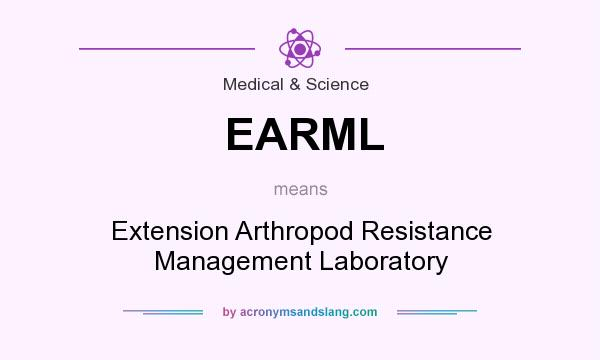 What does EARML mean? It stands for Extension Arthropod Resistance Management Laboratory