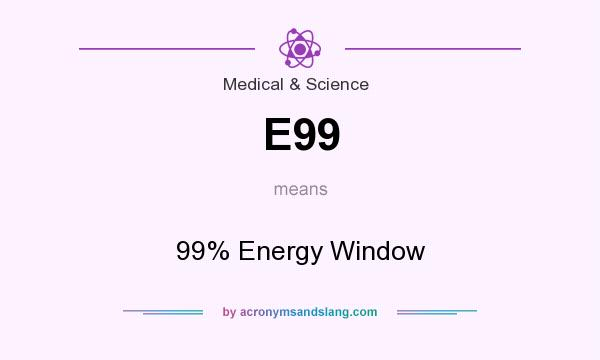 What does E99 mean? It stands for 99% Energy Window