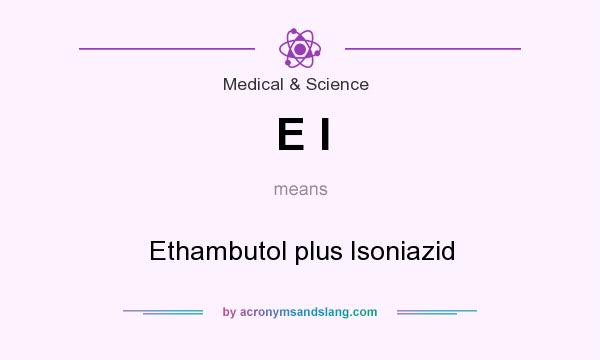 What does E I mean? It stands for Ethambutol plus Isoniazid