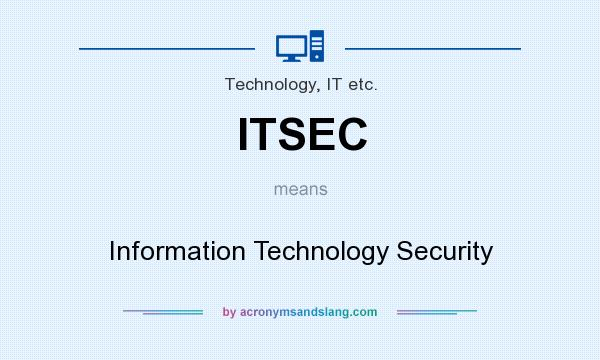 What does ITSEC mean? It stands for Information Technology Security
