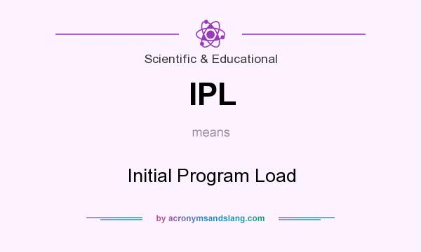 What does IPL mean? It stands for Initial Program Load