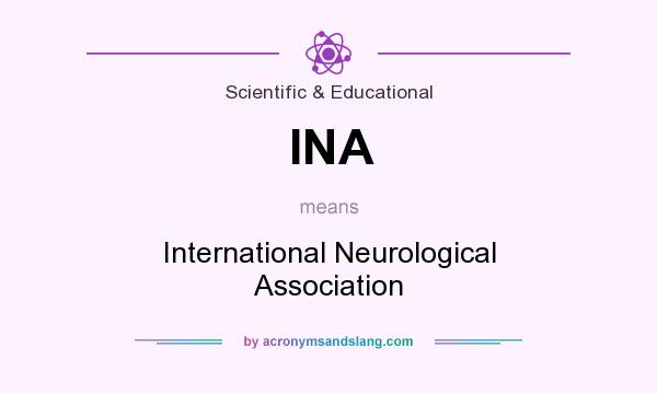 What does INA mean? It stands for International Neurological Association