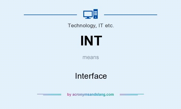 What does INT mean? It stands for Interface