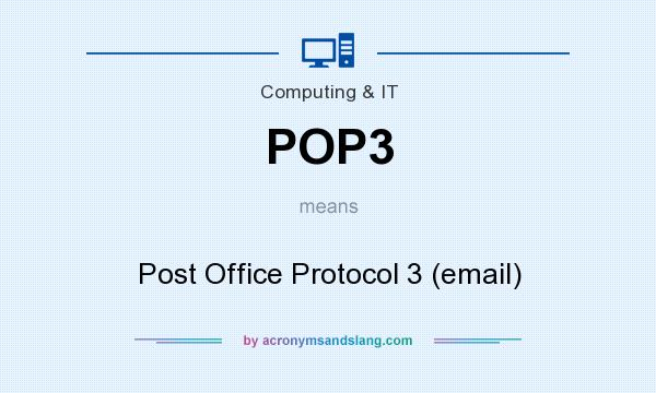 an introduction to the post office protocol pop Development tool to receive pop3 e-mail messages in windows using asp classic introduction in this example we the post office protocol (pop.