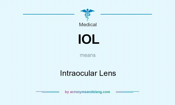 What does IOL mean? It stands for Intraocular Lens