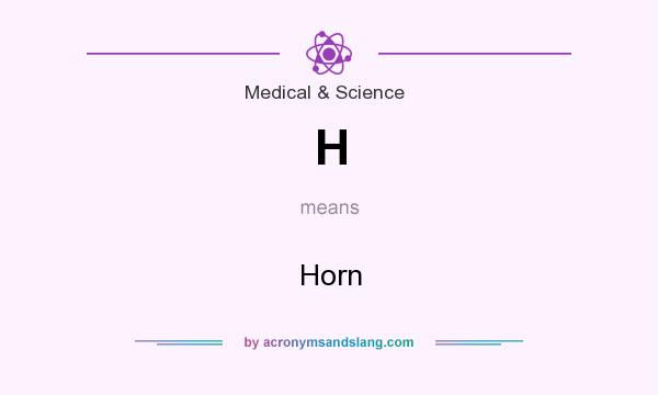 What does H mean? It stands for Horn
