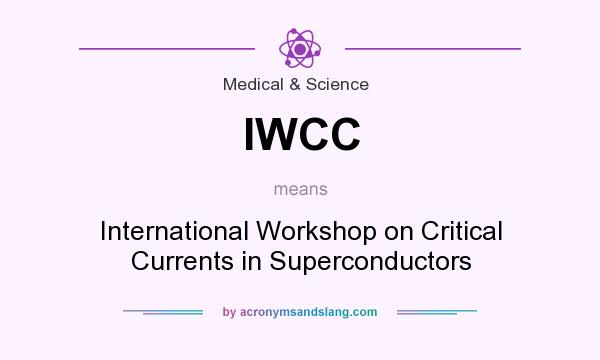 What does IWCC mean? It stands for International Workshop on Critical Currents in Superconductors