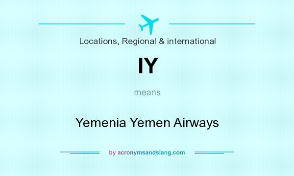What does IY mean? It stands for Yemenia Yemen Airways