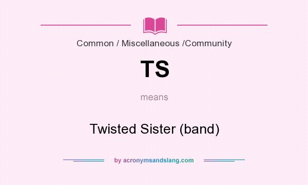 What does TS mean? It stands for Twisted Sister (band)