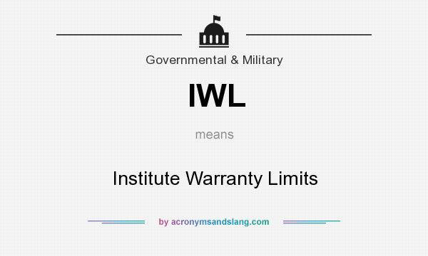 What does IWL mean? It stands for Institute Warranty Limits