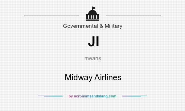 What does JI mean? It stands for Midway Airlines