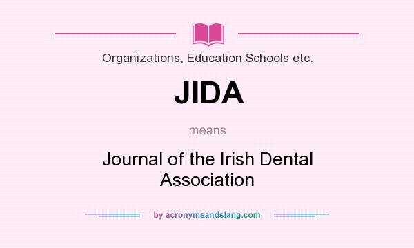 What does JIDA mean? It stands for Journal of the Irish Dental Association