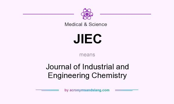 What does JIEC mean? It stands for Journal of Industrial and Engineering Chemistry