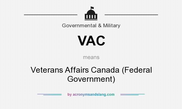 VAC - Veterans Affairs Canada (Federal Government) in Governmental