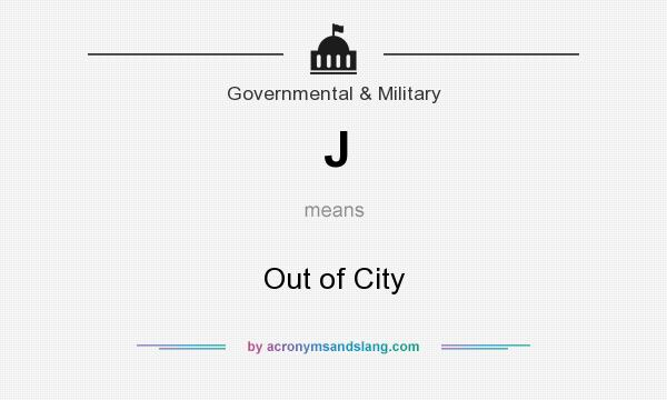 What does J mean? It stands for Out of City