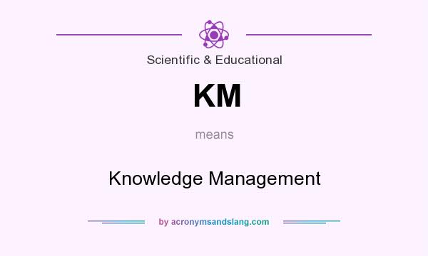 What does KM mean? It stands for Knowledge Management