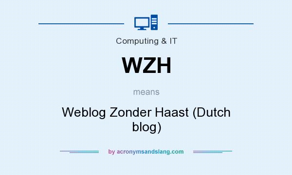 What does WZH mean? It stands for Weblog Zonder Haast (Dutch blog)