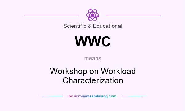 What does WWC mean? It stands for Workshop on Workload Characterization