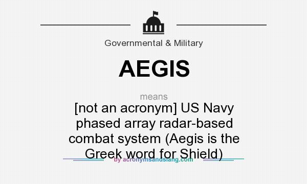 AEGIS - [not an acronym] US Navy phased array radar-based combat