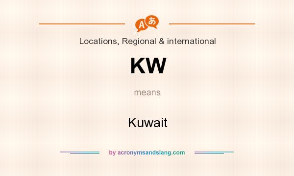 What does KW mean? It stands for Kuwait