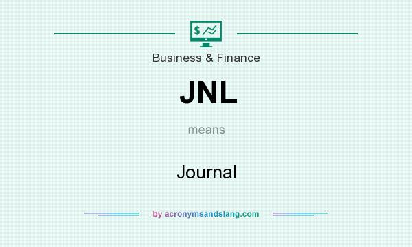 What does JNL mean? It stands for Journal