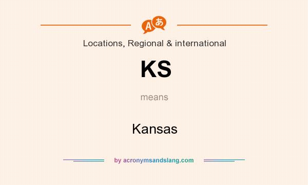 What does KS mean? It stands for Kansas