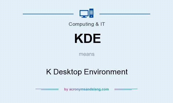 What does KDE mean? It stands for K Desktop Environment