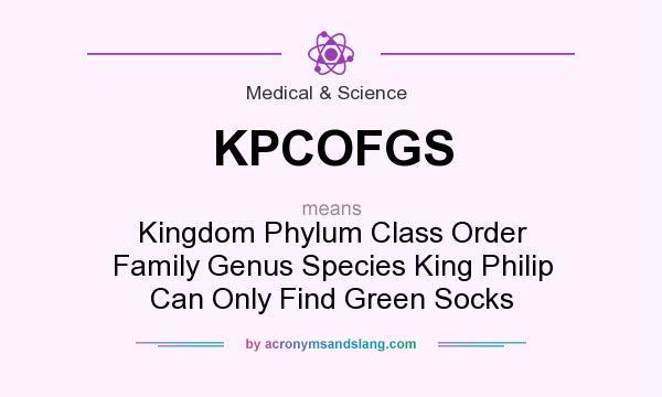 KPCOFGS - Kingdom Phylum Class Order Family Genus Species King Philip ...