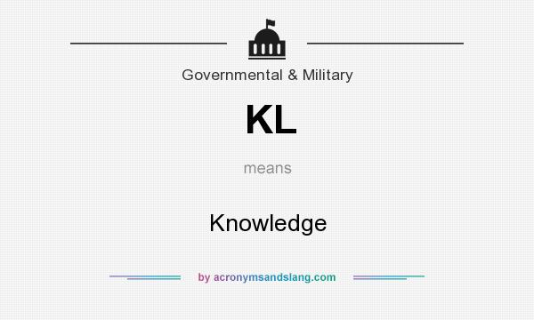 What does KL mean? It stands for Knowledge