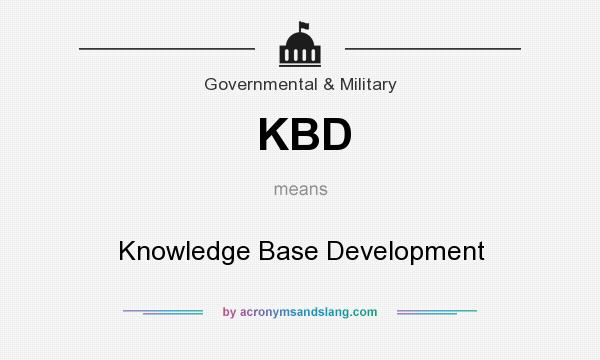 What does KBD mean? It stands for Knowledge Base Development