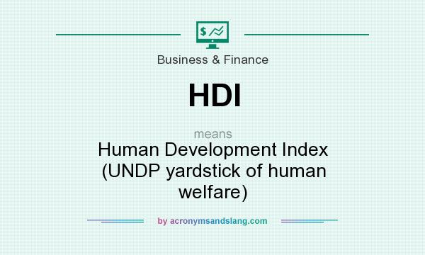 What does HDI mean? It stands for Human Development Index (UNDP yardstick of human welfare)