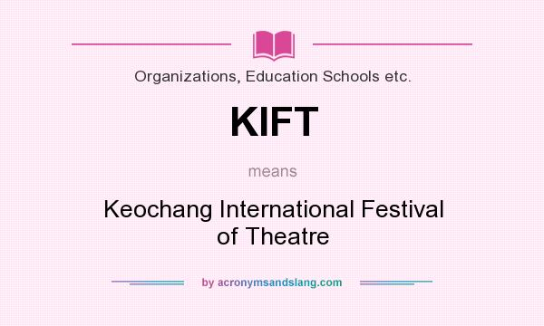What does KIFT mean? It stands for Keochang International Festival of Theatre