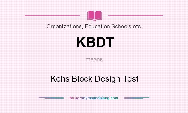 Stand Designs Quiz : Kbdt kohs block design test in organizations education