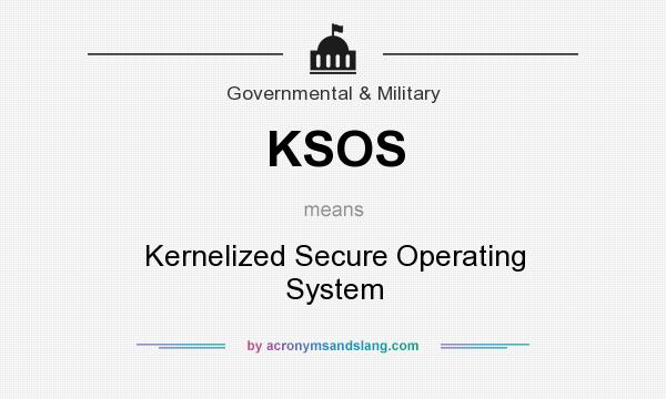 What does KSOS mean? It stands for Kernelized Secure Operating System