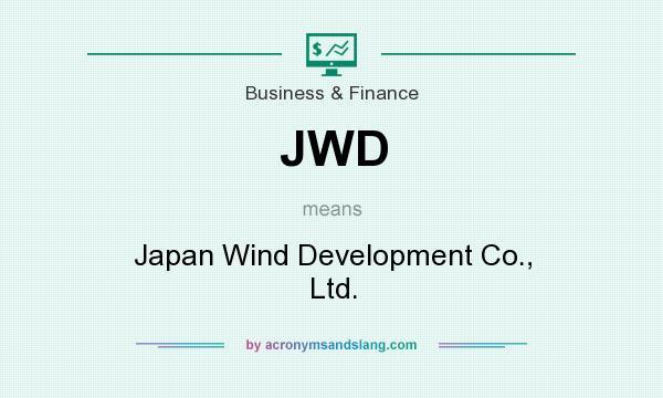 What does JWD mean? It stands for Japan Wind Development Co., Ltd.