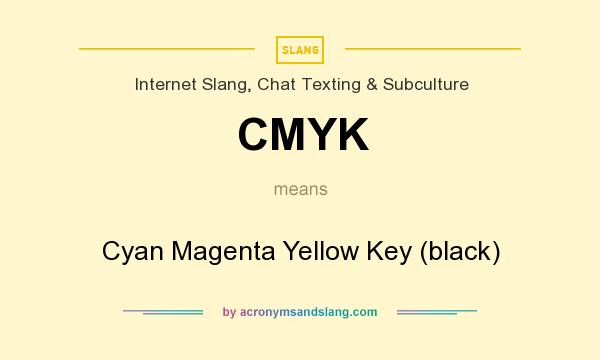 What does CMYK mean? It stands for Cyan Magenta Yellow Key (black)