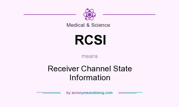 What does RCSI mean? It stands for Receiver Channel State Information