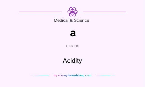 What does a mean? It stands for Acidity