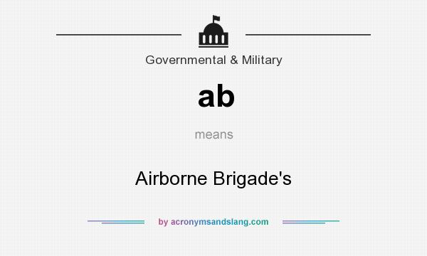 What does ab mean? It stands for Airborne Brigade`s