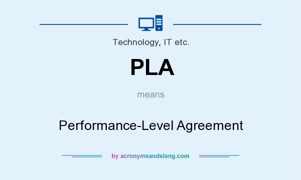 Pla Performance Level Agreement In Technology It Etc By